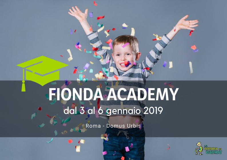 Fionda Academy 3-6 gennaio 2019